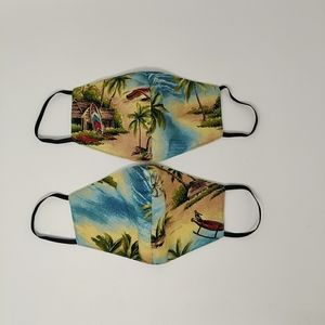 2 pcs handmade Hawaii face mask
